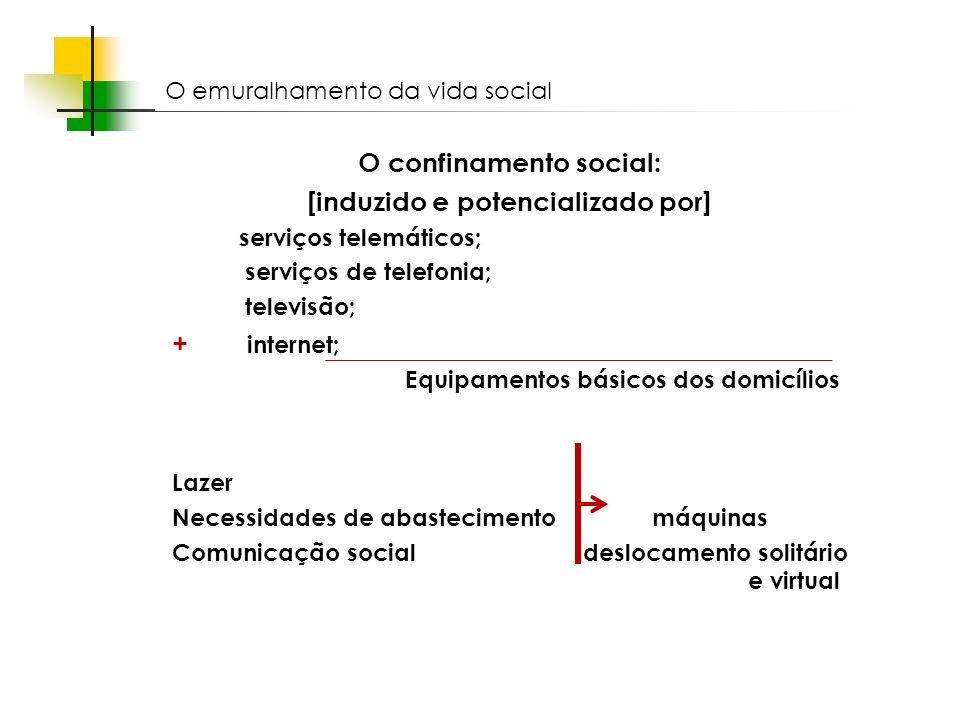O confinamento social: [induzido e potencializado por]